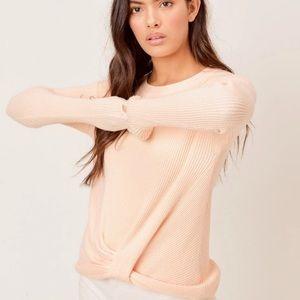 Lovestitch Elsie twist waffle knit pullover